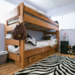 A bunkbed at StarVista's youth homeless shelter, a program for struggling youth in San Mateo County.